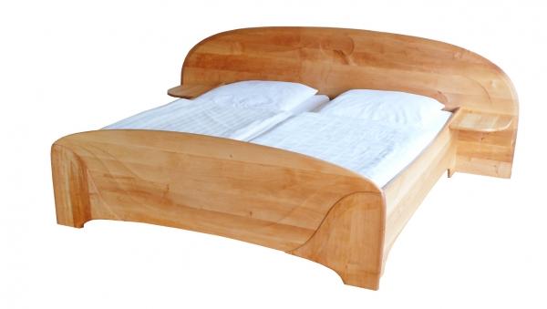 Doppelbett Organic-Line mit Ablagen