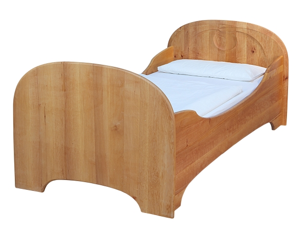 Bett Organic-Line mit erhöhten Seiten